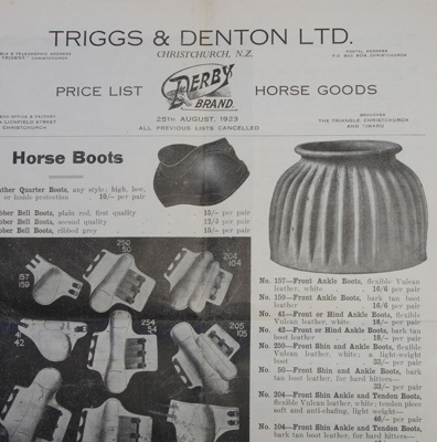 Catalogue, price list, W J R McCallum, Saddle and Harness Maker and Timber Merchant, Owaka; D N Holmes; c1920-1960; CT02.4073