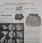 Catalogue, price list, W J R McCallum, Saddle and Harness Maker and Timber Merchant, Owaka; Triggs & Denton Ltd; c1920-1960; CT02.4073