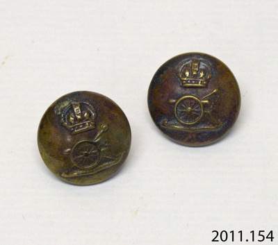 Buttons, military; [?]; [?]; 2011.154