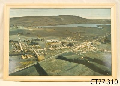 Aerial Photograph [Owaka and Catlins Lake c1960]; Whites Aviation; c1960; CT77.310