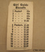 List, price [Girl Guide Biscuits]; Girl Guides Association; 20th century; CT89.1874d
