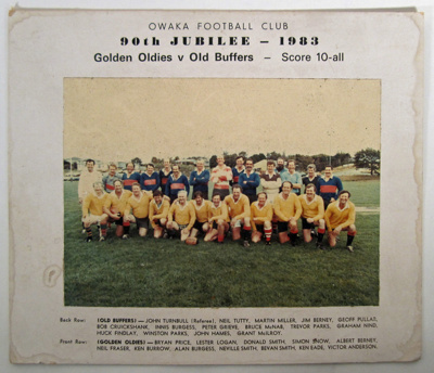 Photograph [Owaka Football Club, 90th Jubilee]; [?]; 1983; 2010.794