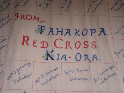 Red Cross quilt, CTNN15