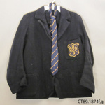 Blazer, school; Petone; Mid 20th century; CT89.1874f,g