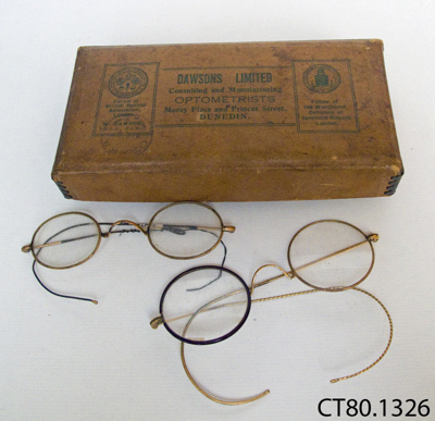 Spectacles and box; Dawsons Ltd; CT80.1326