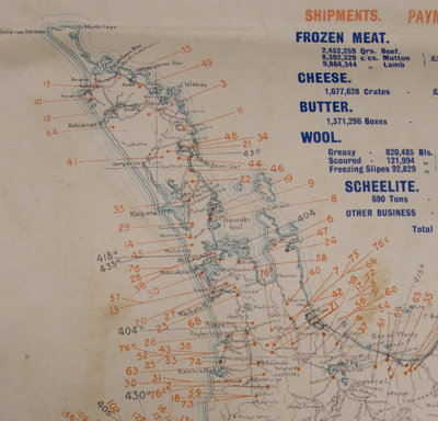 Map, Hill's Export Map of New Zealand, 1919; H Gladstone Hill; 1919; CT80.1200c.9