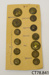 Buttons, military; [?]; early 20th century; CT78.841