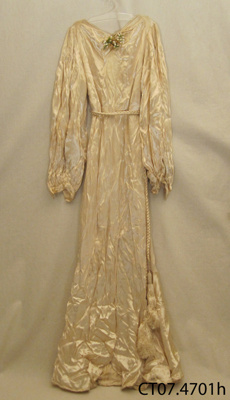 Dress, wedding; [?]; Early-mid 20th century; CT07.4701h