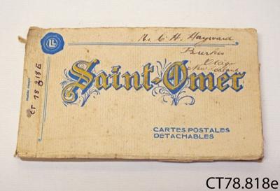 Book, postcards; [?]; 1914-1918; CT78.818e