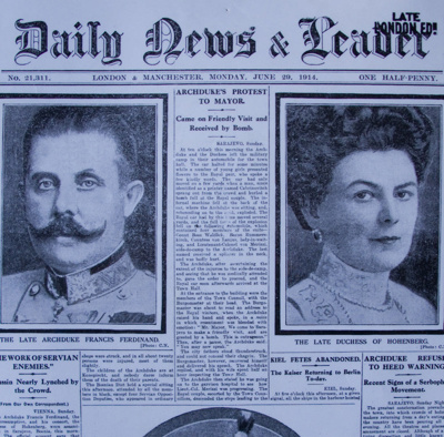 Newspaper, Daily News & Leader, London & Manchester, June 1914; Daily News & Leader; 29.06.1914; CT99.3028.5