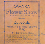 Minute book, Owaka Presbyterian Church (Building Fund) Flower Show; 1935; 2010.196