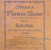 Minute book, Owaka Presbyterian Church (Building Fund) Flower Show; 1935; 2010.196