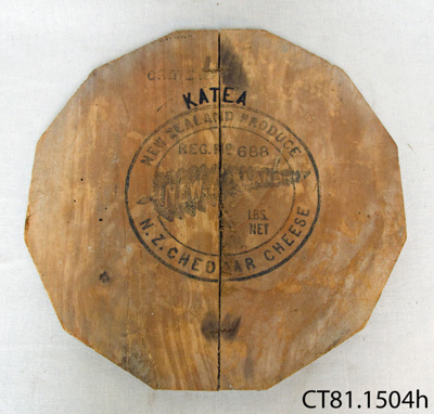 Lid, cheese crate; Fairfield Co-operative Dairy Factory Company Limited; 1908-1966; CT81.1504h