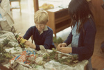 Photograph [Catlins Area School, sand saucers]; [?]; [?]; 2010.761