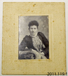 Photograph [Mary Maslin Parks]; Clayton Photo, Gore; c1890s; 2011.119.1