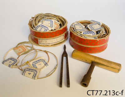 Accessories, zither; [?]; [?]; CT77.213c-f