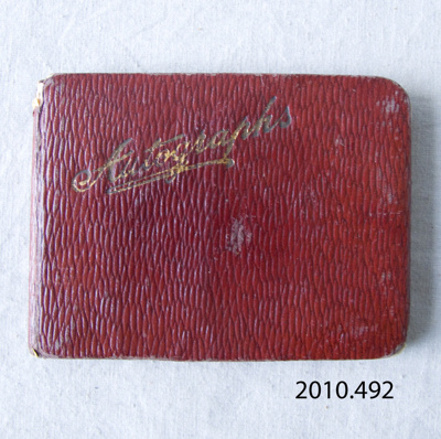 Autograph Book, c1912; [?]; [?]; 2010.492