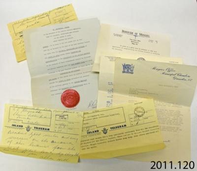 Letters [Catlins centennial]; [?]; 1965; 2011.120
