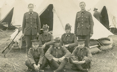 Photograph [Soldiers in camp]; [?]; 20th century; CT95.2066.5