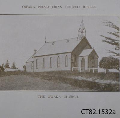 Booklet, Owaka Presbyterian Church Jubilee 1885-1935, Souvenir Booklet; Presbyterian Church; 1935; CT82.1532a