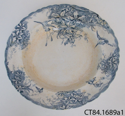Plate, soup; P Holdcraft & Co; 1846-1852; CT84.1689a1