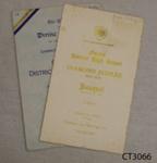 Ephemera, Owaka District High School Diamond Jubilee Banquet Menu and Divine Service, 1875-1935; Owaka News Print; 1935; 2010.348