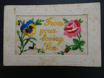 Postcard, embroidered.; 1914-1919; 0000.0448