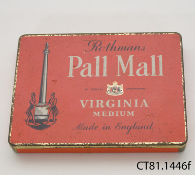 Tin, cigarette; Rothmans Ltd; [?]; CT81.1446f