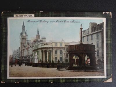 Aberdeen, Scotland, coloured postcard, WW1; Weir, Cowan; c 1917-1919; 0000.0439