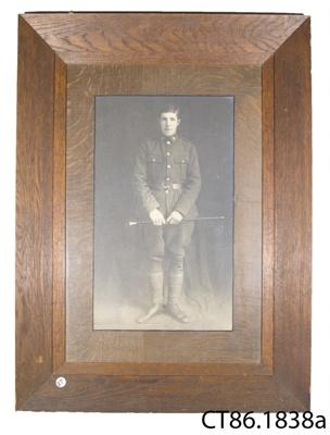 Photograph [Private Thomas Fraser]; Pattillo, 'The Bridal Photographer', Dunedin; c1917; CT86.1838