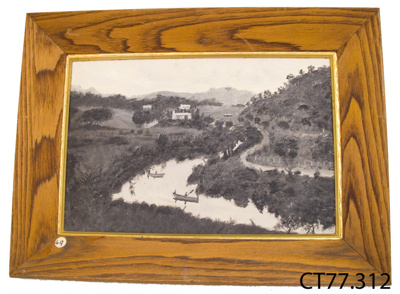 Painting, 'River and Road'; Dutton, Caroline (Miss); [?]; CT77.312