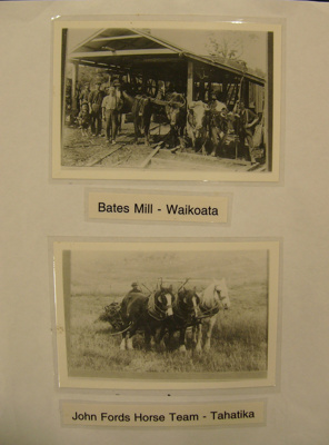 Photograph - Bates Mill, Waikota and John Ford's Horse Team, Tahatika; -; CT08.4826.A1