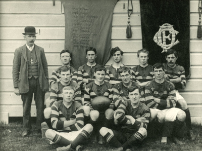 Photograph [Owaka Football Team, 1913]; Geo A Gray Photo; 1913; CT79.1051h