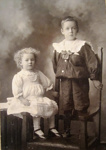 Photograph [Bessie and Herb McIntosh]; Pattillo, 'The Bridal Photographer', Dunedin; Early 1900s?; CT04.4591a