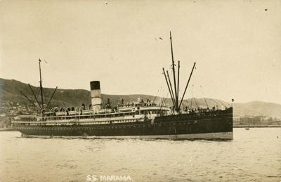 "Photograph [The SS ""Marama""]; [?]; Early 20th century; CT98.2084d"