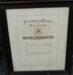 Framed Certificate presented to James Morrison Thomson; Presbyterian Church of New Zealand; 1927; 0000.0392