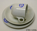 Teacup, saucer and side plate; [?]; [?]; CT81.1234c
