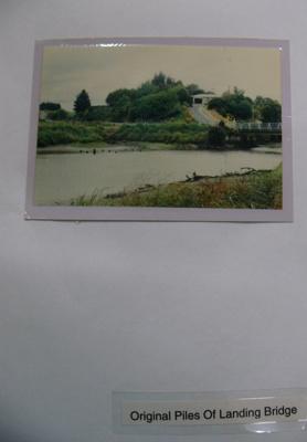 Photograph - original piles of the Landing Bridge; -; CT08.4826.B8