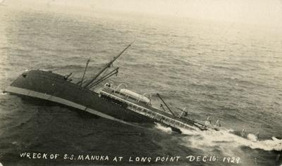 Photograph [Wreck of the Manuka]; [?]; 1929; CT89.1877d.4