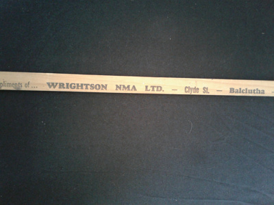 wooden ruler, 1 metre, from Wrightson NMA; 0000.0161