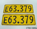Plates, vehicle licence ; CT84.1684a