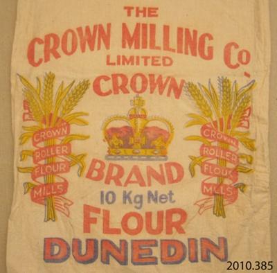 Bag, flour; Crown Milling Co Ltd; [?]; 2010.385