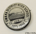 Badge, commemorative; [?]; c1950; CT85.1747b