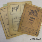 Catalogues, W J R McCallum, Saddle and Harness Maker and Timber Merchant, Owaka; J Wiseman & Sons Ltd; 1921-1950; CT02.4072