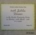 Ticket, Owaka Ladies Hockey Club, 65th Jubilee Dinner, 1986; [?]; 1986; 2010.463