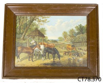 Print [Farm scene]; Pears; [?]; CT78.370