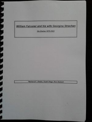 William Falconer's Diaries, 1875-1933, compiled and transcribed in 1998.; William Falconer; 0000.0748