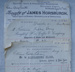 Invoice, Ratanui Public Library, 1893; Wise, Caffin & Company; 1893; CT80.1209