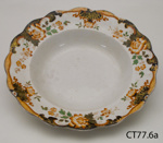 Plate, soup; Doulton & Co Ltd; Post 1902; CT77.6a