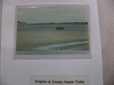 Photograph - Dolphin structure at Pounawea and Owaka Heads 'today' ; -; CT08.4826.B10